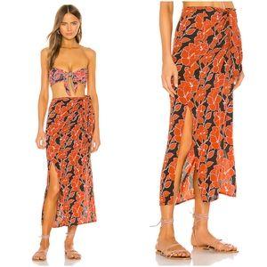 New acacia mid pacific Quinn skirt silk swimwear S